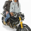 Aaron & Whitney posing with Ducatis